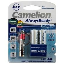 تصویر باتری قلمی قابل شارژ کملیون Always Ready Max-2500mAh به همراه چراغ قوه