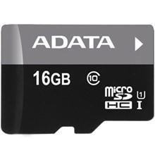 تصویر کارت حافظه microSDHC ای دیتا مدل Premier کلاس 10 استاندارد UHS-I U1 سرعت 50MBps ظرفیت 16 گیگابایت
