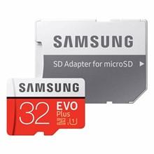 تصویر کارت حافظه microSDHC سامسونگ مدل Evo Plus کلاس 10 استاندارد UHS-I U1 سرعت 80MBps همراه با آداپتور SD ظرفیت 32 گیگابایت