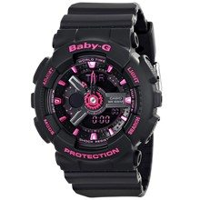 تصویر ساعت مچی عقربه ای زنانه کاسیو مدل Baby-G BA-111-1ADR